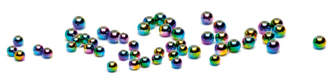 Veniards Rainbow Beads 30 Multi-Colour Sizes 3mm & 4mm 30 per Packet
