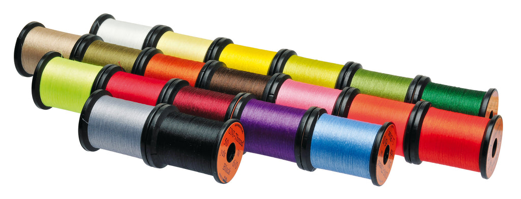 Pack of 8 X 50 Yard Reels Uni all Round Tying Waxed Threads in Assorted Colours in Sizes 6/0 & 8/0