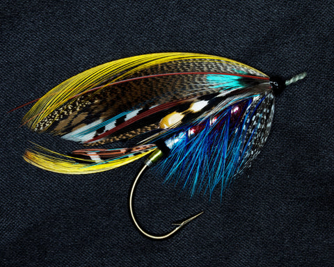 COLOUR PRINT OF ROYAL FLY THE BALMORAL HIGHLANDER FISHING FLY FROM FLYMAKERS