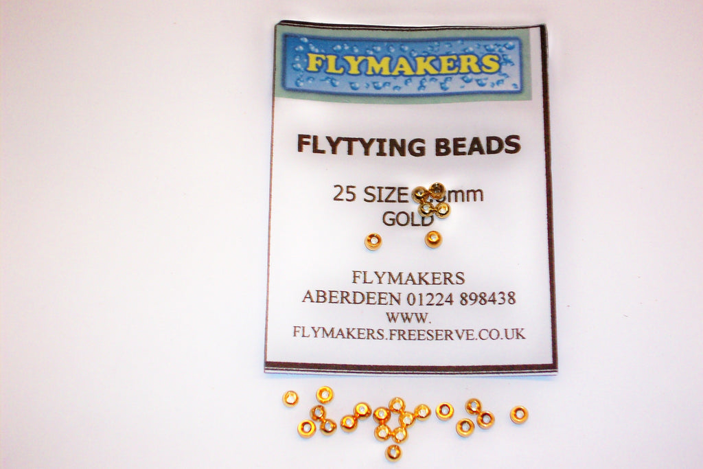 25 Veniards Gold & Silver Plated Brass Beads Assorted Colours From Flymakers