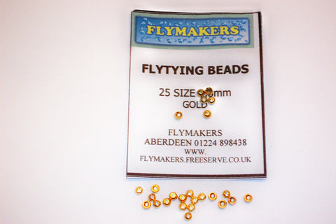 25 Veniards Gold & Silver Plated Brass Beads Assorted Sizes From Flymakers