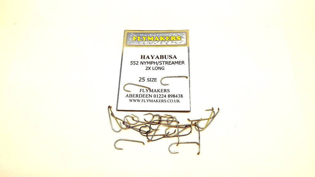 NYMPH/STREAMER TROUT FLY HOOKS CODE FLY 552 PACKET OF 25 FROM HAYABUSA