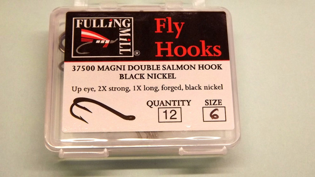 MAGNI Double Salmon Hooks 12 per  Pack IN BLACK, GOLD, SILVER from Fullingmill