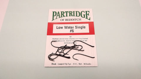 10 PARTRIDGE Low Water SALMON Single Fishing Hooks Code N2