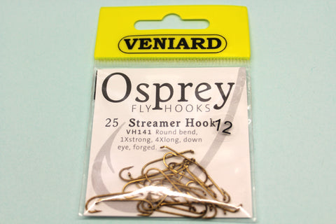LONG SHANK STREAMER TROUT FLY HOOKS CODE VH141 FROM OSPREY 25 PER PACKET