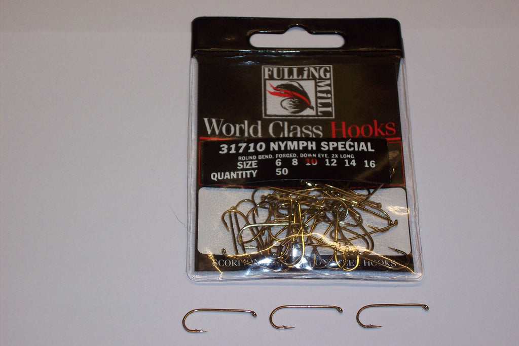 NYMPH SPECIAL Trout Hooks Code 31710 from FULLINGMILL 50 Per Packet