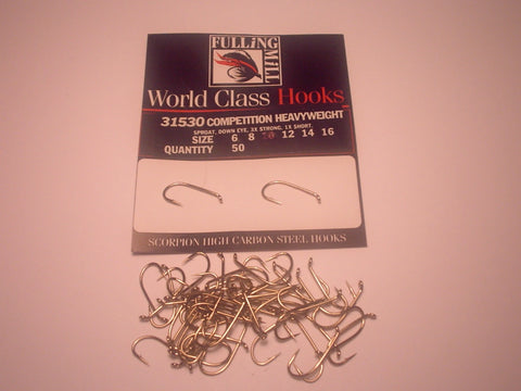 Competition  HEAVYWEIGHT Code 31530 from FULLINGMILL 50 hooks per packet