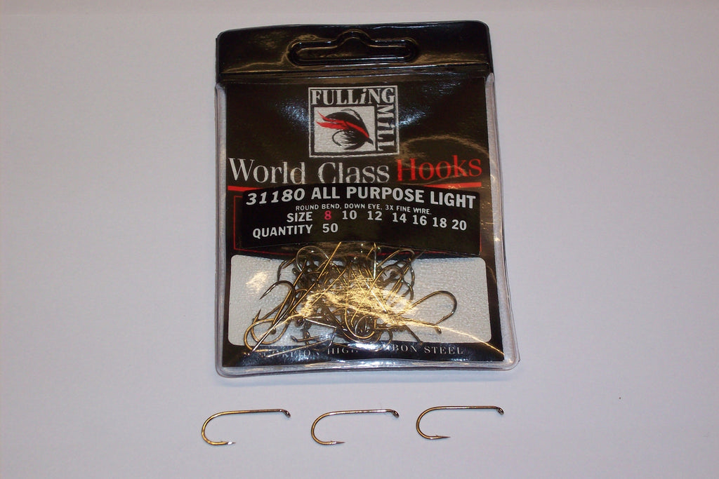 All Purpose LIGHTWEIGHT Trout Hooks Code 31180 from FULLINGMILL 50 Per Pcket  T