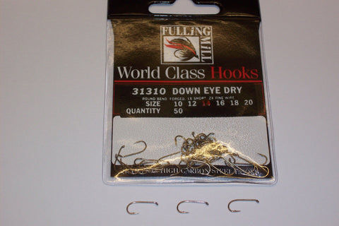 Down EYE DRY Trout Hooks Code 31310 from FULLINGMILL 50 per packet