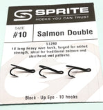 SPRITE Salmon Double FISHING Hooks Code S1280 10 hook packets size 10 only