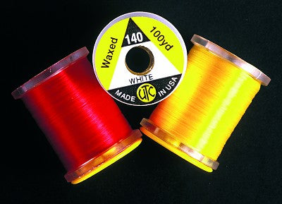 Utc Ultra Flytying Threads Pre Waxed Assorted Colours in100 Yard Reels