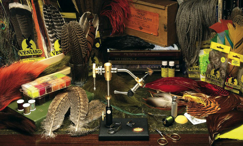 fly tying materials, hooks & tools