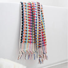 Load image into Gallery viewer, Pom Pom Turkish Towel Multicoloured PREORDER