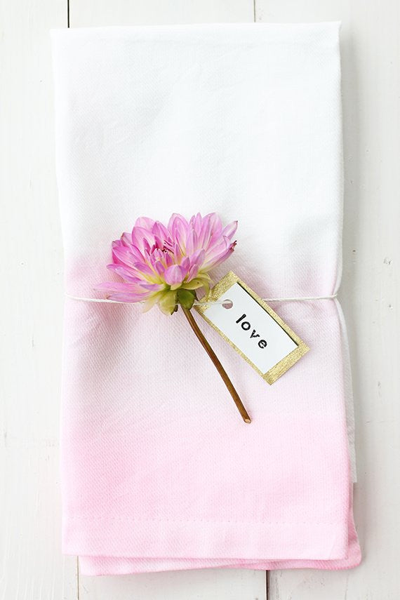 DIY watercolor cloth napkins