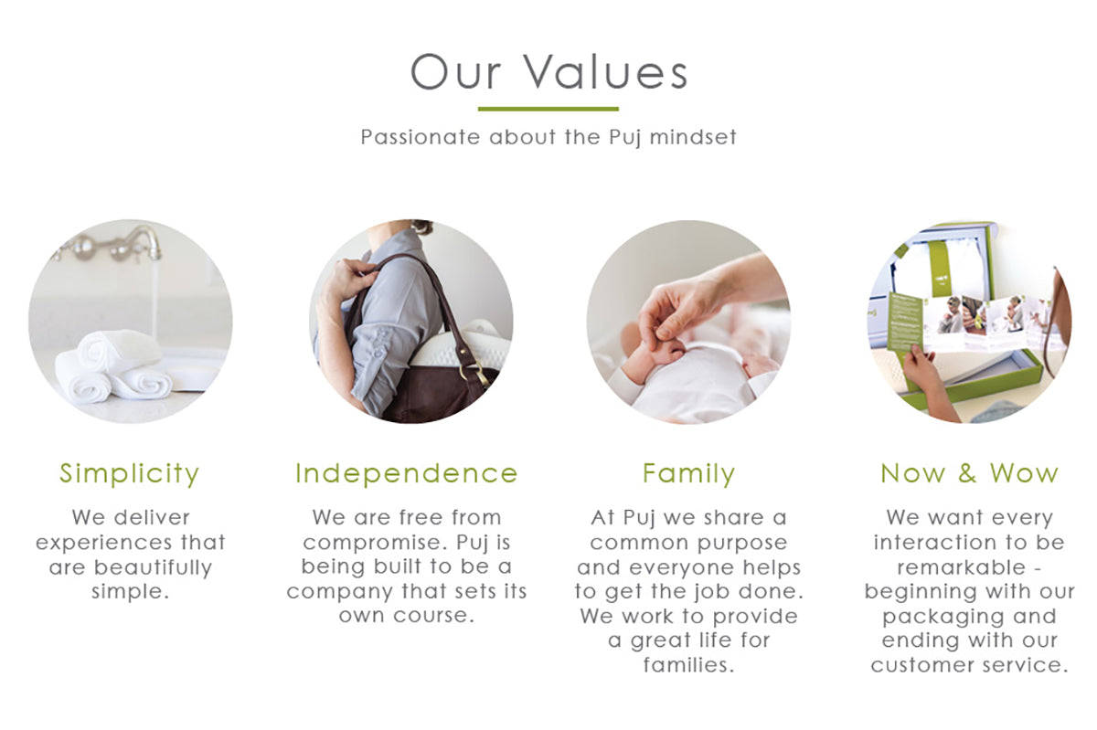 Our Values - Passsionate about the Puj mindset