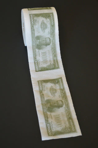 $1,000,000.00 Bill Printed Toilet Paper
