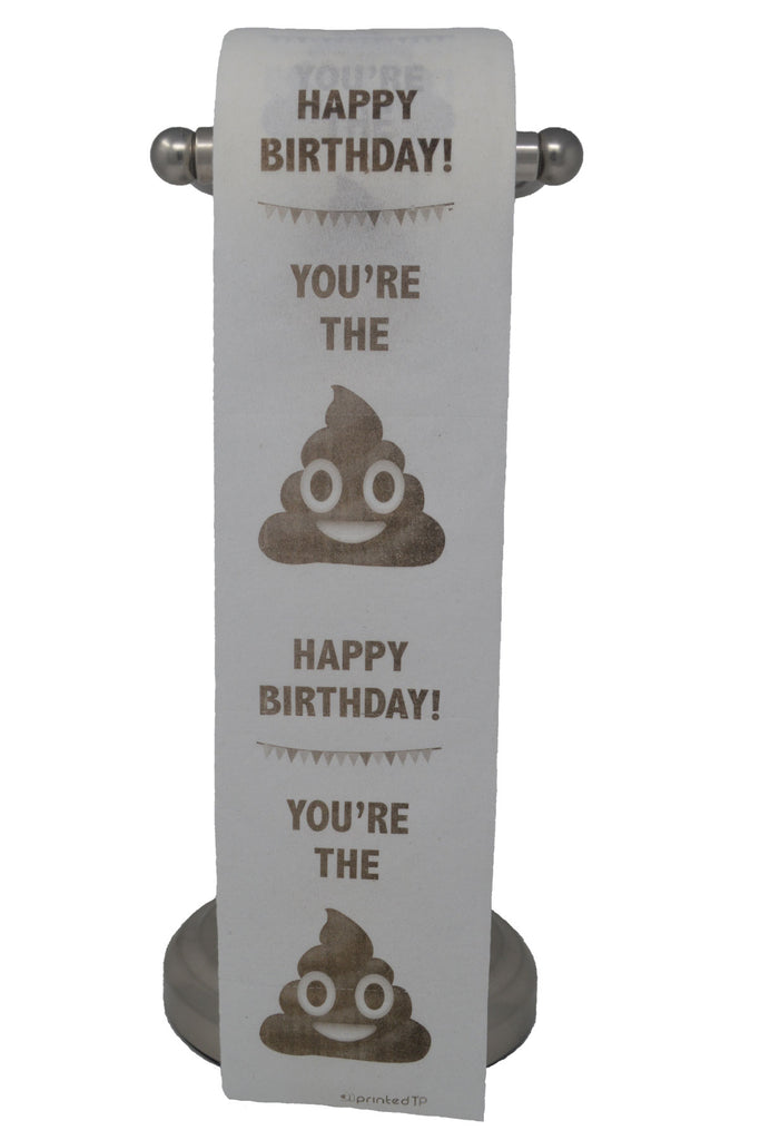 Happy Birthday Toilet Paper, Funny Gag Gift, Decoration!