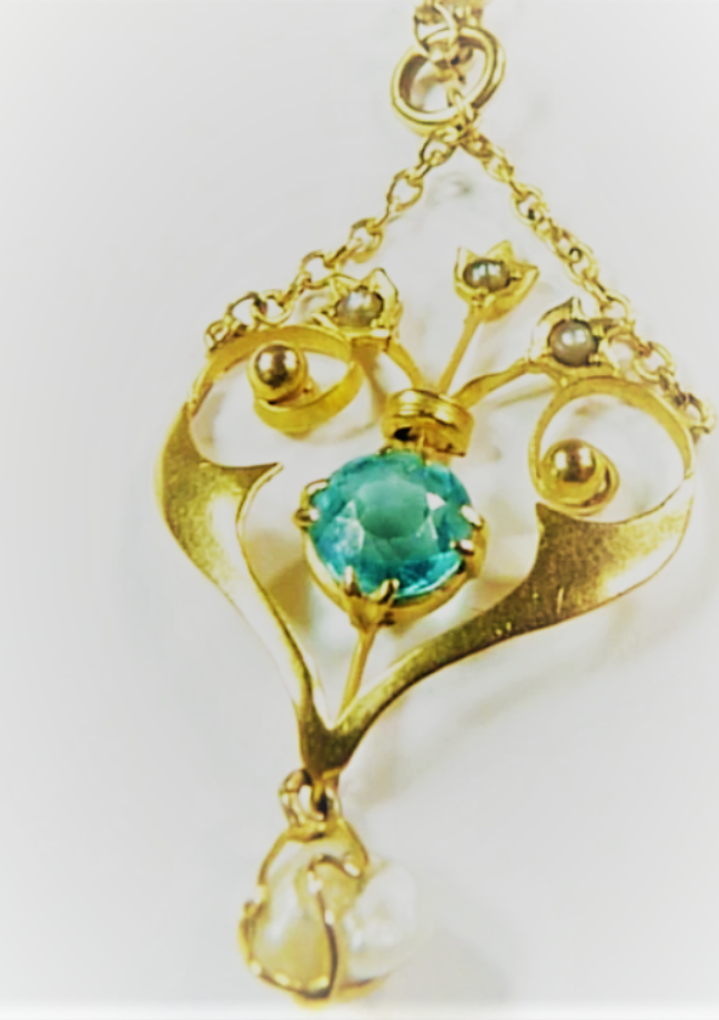 Giveaway To Win A Hallmarked Gold Seed Pearl Pendant With Necklace