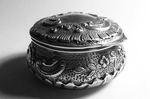 Win An Sterling Silver Art Nouveau Powder Bowl (Maker - Louis Morteveille)