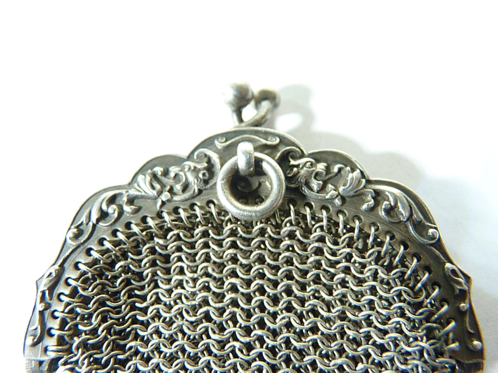 1800s solid silver purse