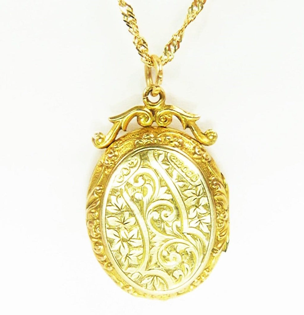 1900s Hallmarked Gold Locket