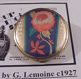1927 French foil compact mirror