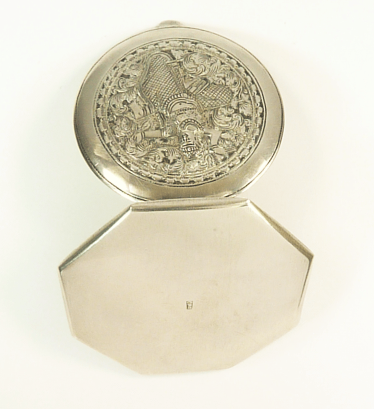 1940s Silver Loose Powder Compact
