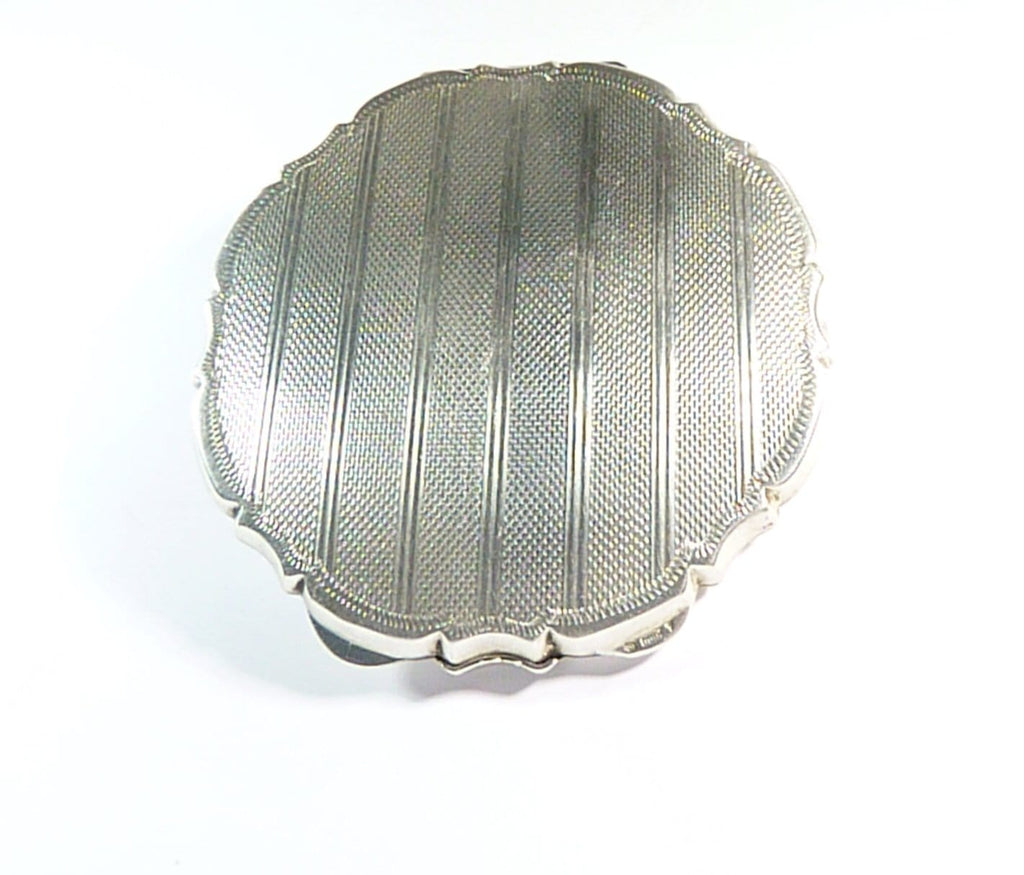 1940s Silver Compact Mirror