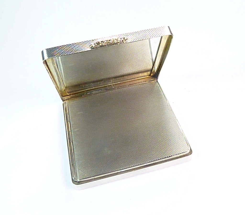 1950s Makeup Compact Silver And Gold