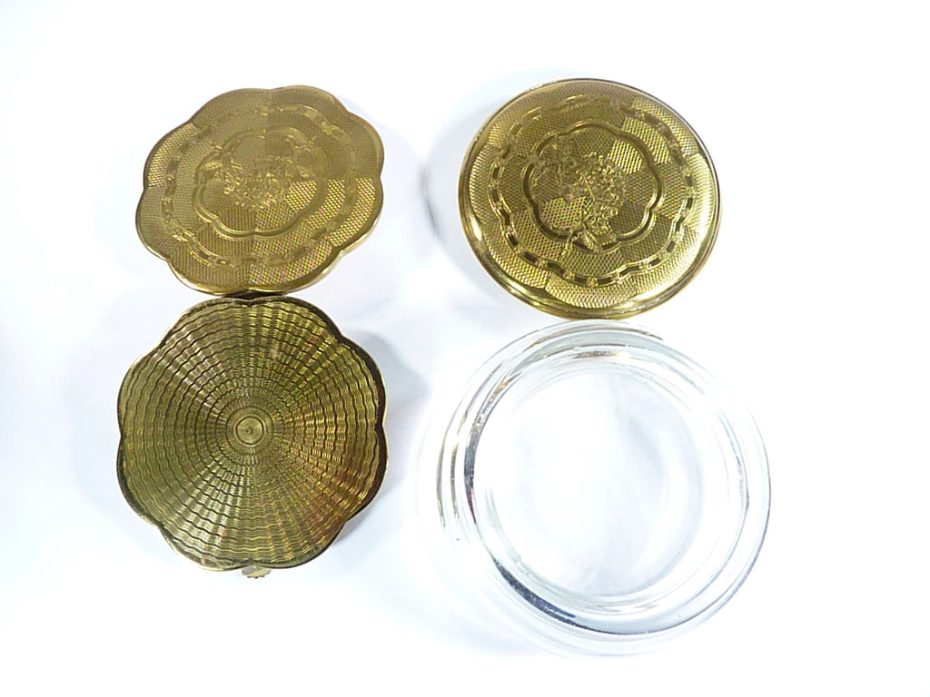 1950s Dressing Table Accessories Compact And Powder Bowl