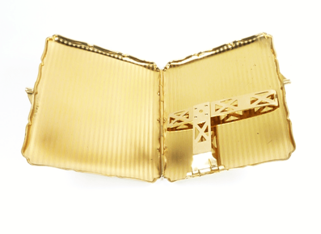 1950s Golden Butterfly Cigarette Case