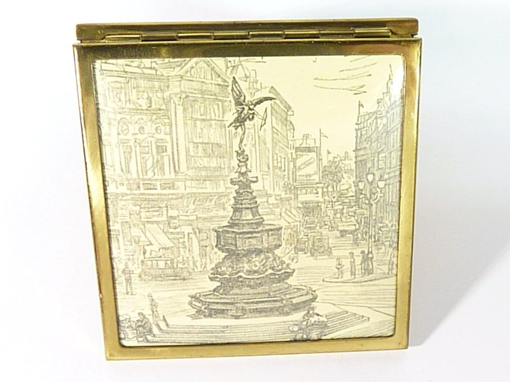 1950s Refillable Loose Compact Case With Mirror