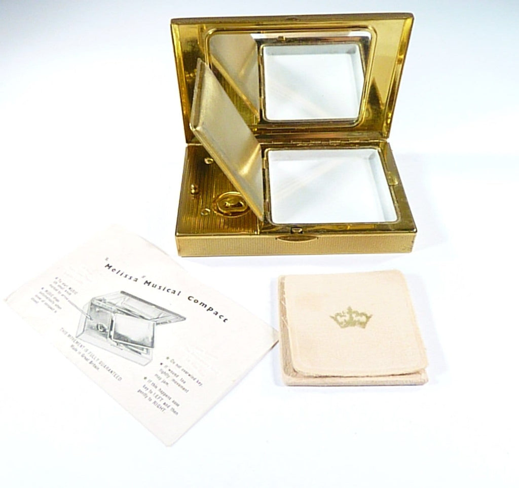 1950s boxed musical Melissa powder box vintage