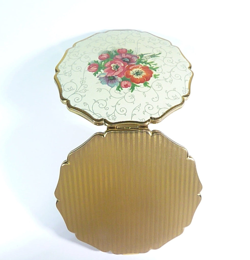 1950s unused Stratton Princess loose powder compact