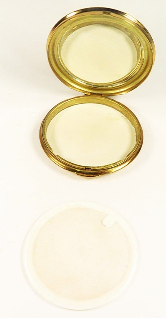 1960s Pressed Foundation Compact Mirror