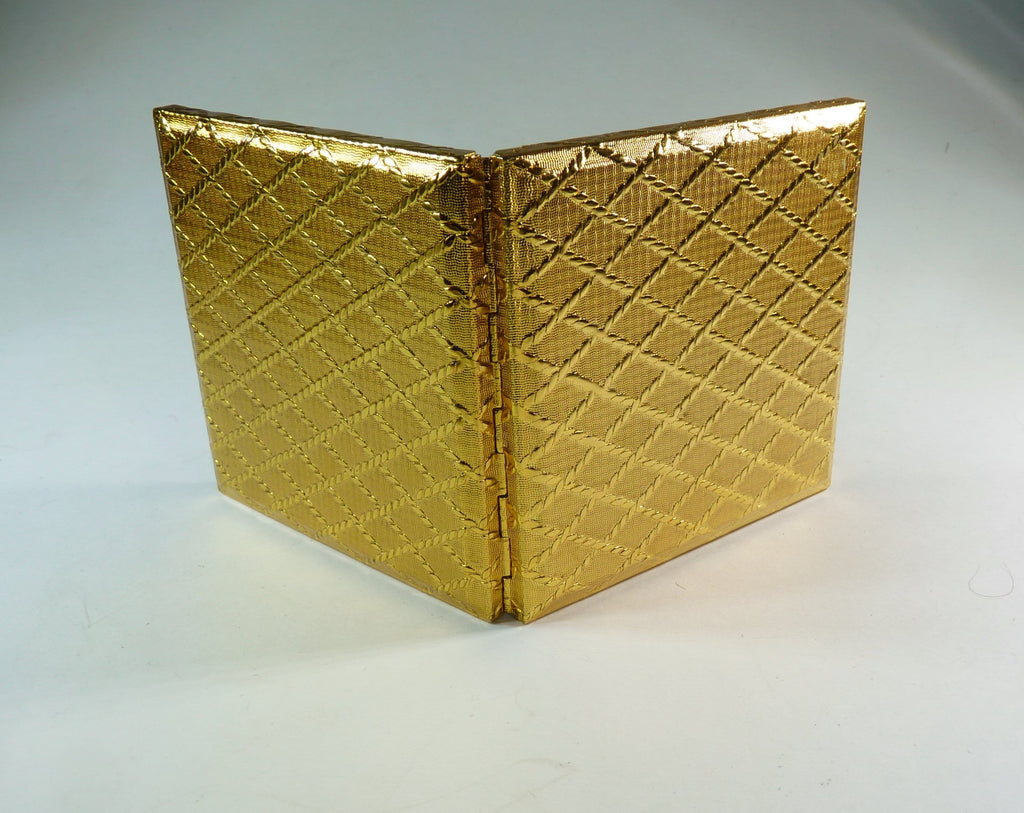 1970s gifts gold compact mirror
