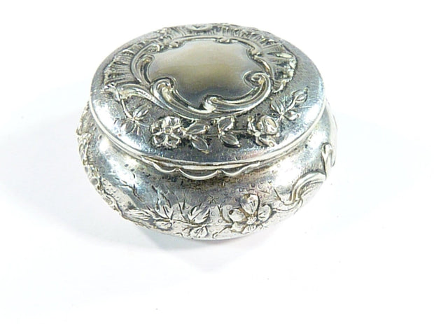 19th Century French Silver Powder Bowl