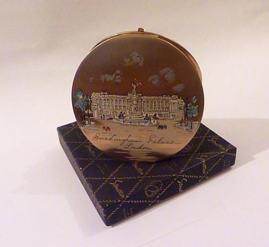 Rare Stratton Royal compact Buckingham Palace powder compact - The Vintage Compact Shop