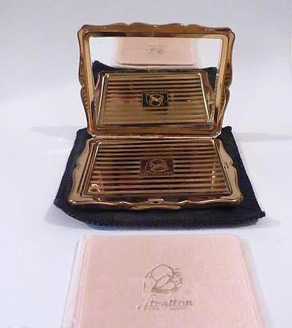 "Rare Stratton powder compacts Stratton "" Empress ""compact, book piece compacts - The Vintage Compact Shop"