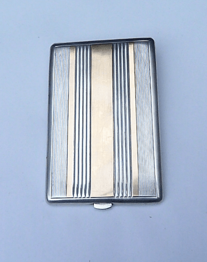 Antique silver cigarette case HENIN & CIE 50th / 25th wedding anniversary gifts for him business card cases free shipping