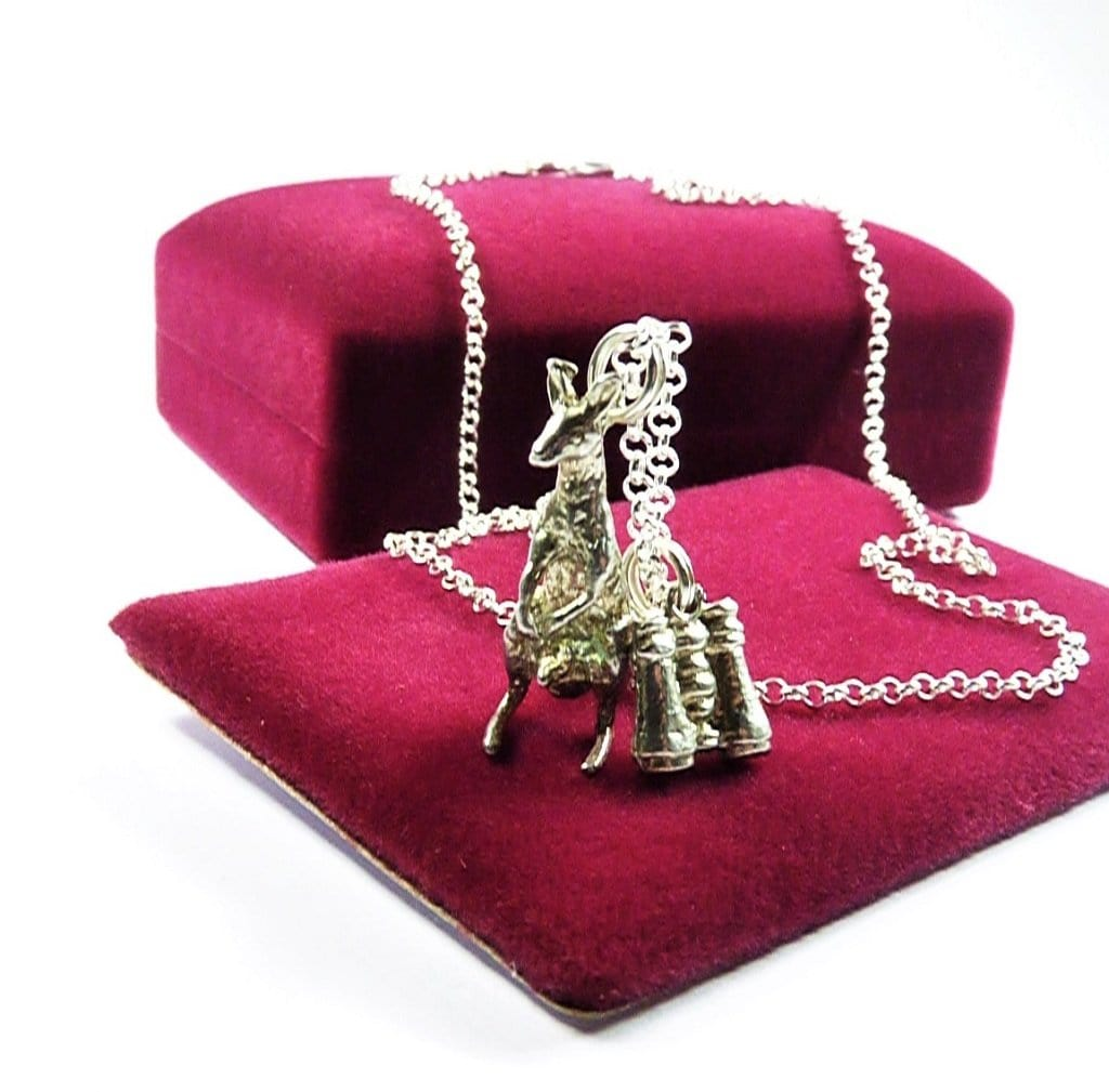 garoo 45cm Silver Necklace With Kangaroo