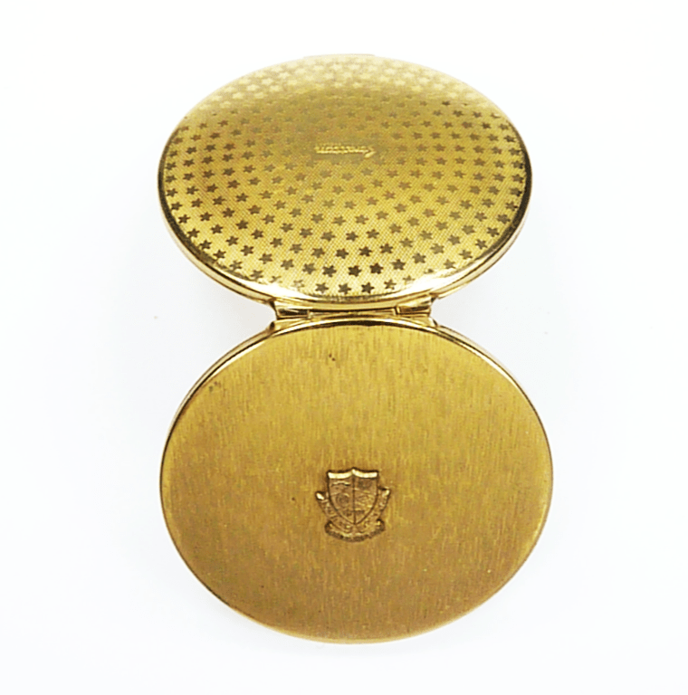 Antique Compact For Loose Face Powder