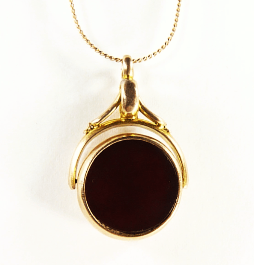 Antique Gold Carnelian And Bloodstone Fob
