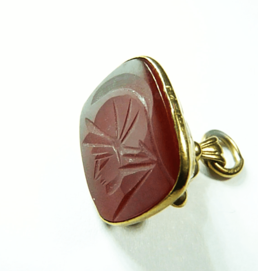 Antique Gold Fob With Chain