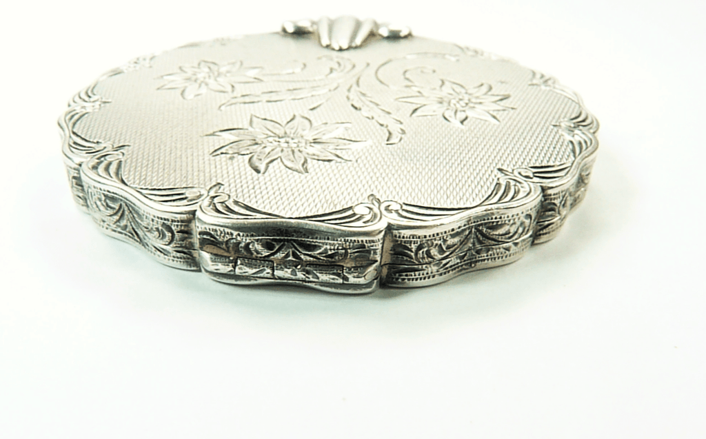 Antique Silver Makeup Compact
