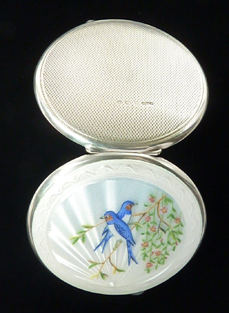 Antique Bird Series Powder Compact
