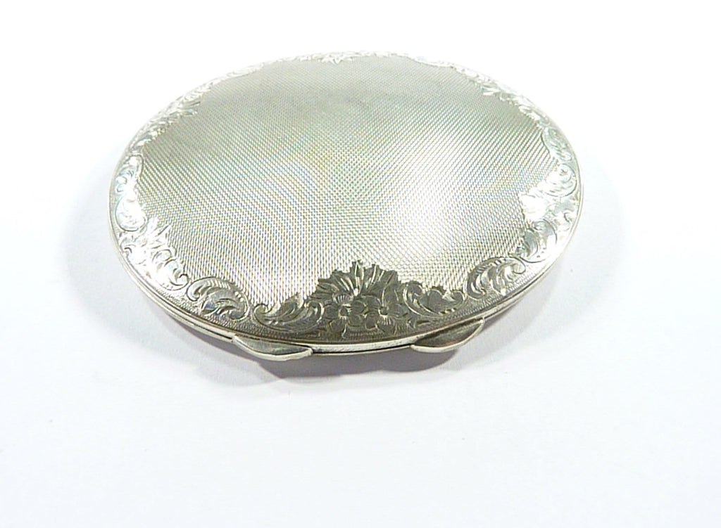Antique Continental Silver Loose Powder Compact