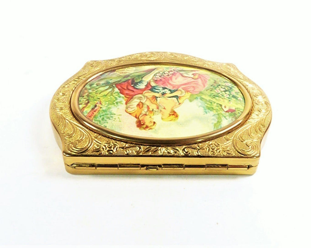 Antique Enamel Makeup Compact