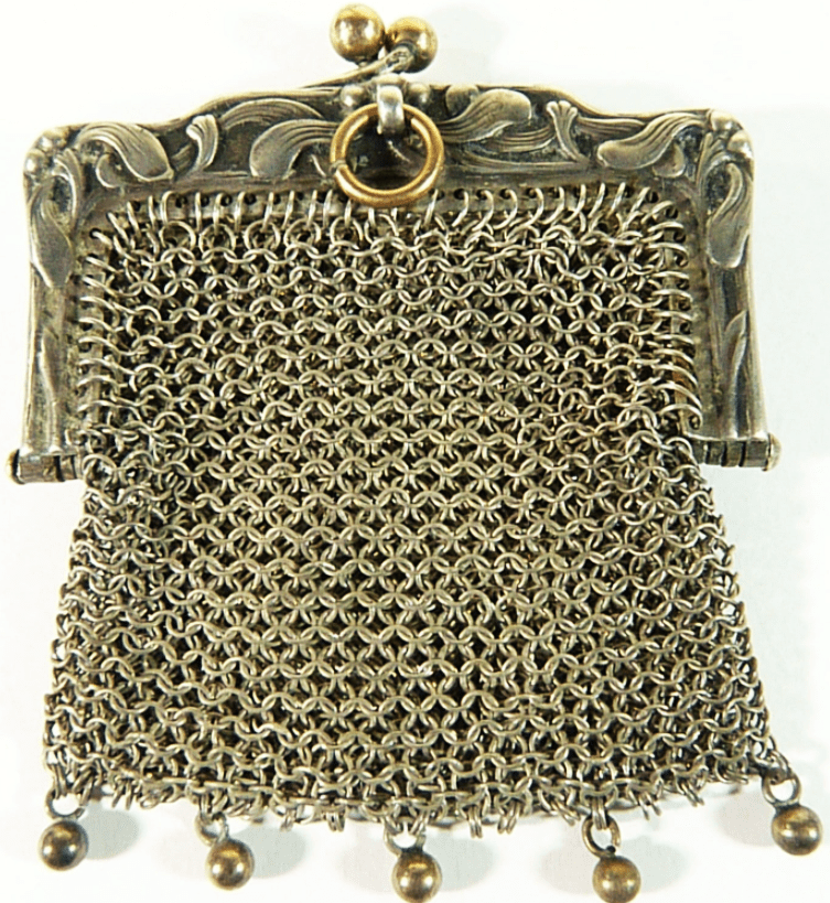 Antique Hallmarked Silver Mesh Purse