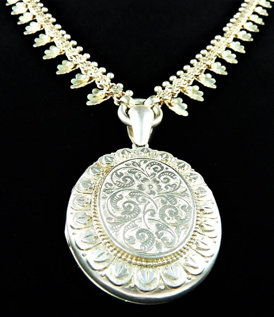 Antique Hallmarked Silver Victorian Necklace
